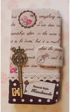Diy Handmade Cloth Art Flip Cover Case HH. Stamp door HeartmadeMacau, $29.99
