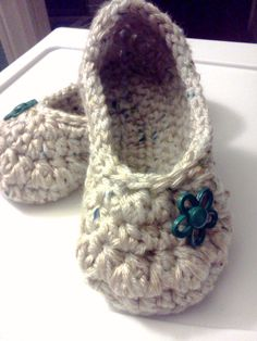 Ladies Slippers......in Oatmeal YOUR size... by GrammaLeas, $12.00