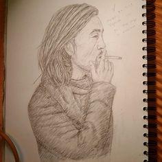 Vigilante.  #Instaart #drawing #illustration #pencil #sketchbook #artist #Y3 #yohjiyamamoto #adidas