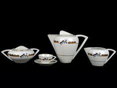 Serviço de chá Art Deco Coffee Set, Iced Coffee, Coffee Cups, Art Deco, How To Order Coffee, Coffee Tasting, Make Beauty, Instant Coffee, Coffee Filters