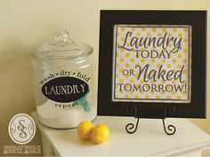 Laundry Room Vinyls ~ find in here: www.mysimplysaiddesigns.com/ivy  Laundry Recipes ... find in here: http://thehumbledhomemaker.com/2013/05/homemade-laundry-detergents.html