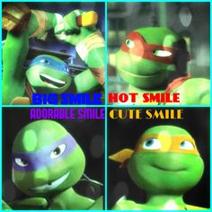 Big and adorable smile,hot is not the right word for Raphael's smile tho.