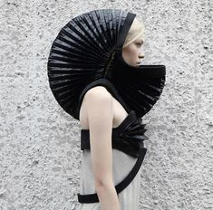 Transforming Neoprene Hood Dress By DZHUS