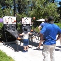 We coordinated double shot basketball rentals for this fun company picnic. Paper Table, Double Shot, Catering Menu, Company Picnic, Picnic Time, Casual Wedding, Wedding Menu, Good Company, Bay Area