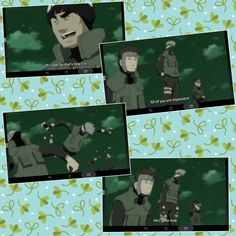 Guy, Kakashi, Yamato, Aoba, funny, quote, text, comic; Photo Collage