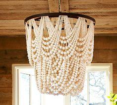 pottery Barn - Amelia draped wood beaded chandelier