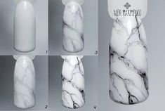 25 Marble Nail Design with Water & Nail Polis Marble Nail Designs, Marble Nail Art, How To Marble Nails, Black Marble Nails, Nail Art Designs Videos, Nail Art Videos, Diy Nails, Cute Nails, Marble Nails Tutorial