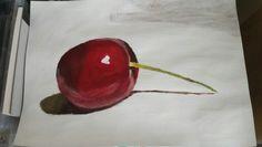 Still life Cherry.  From Will Kemp art school Web tutorial