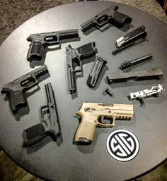 Sig Sauer P320 MHS - U.S. Military's new official sidearm...can easily be chambered in .40SW, 9MM, or .45ACP and the frames are interchangeable
