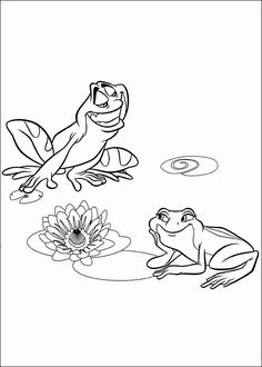 coloring page princess and the frog princess and the frog