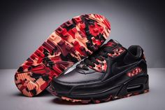 5099bd9f8981 Cheap Nike Women Men Shoes - Discount Nike Air Max 90 Black Disruptive  Pattern For Sale