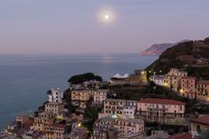 Riomaggiore under the full moon