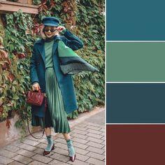 Color Combinations For Clothes, Color Combos, Color Schemes, Vintage Mode, Soft Summer, Fashion Colours, Color Pallets, Mode Style, Fashion Models