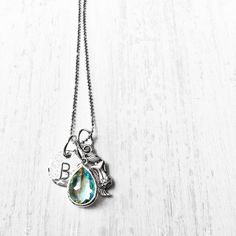 Silver Mermaid Initial Necklace  a Summer 2015 by shopSHINElife