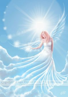 Fairy in the forest by Fantasy-fairy-angel on DeviantArt Fairy Pictures, Angel Pictures, Beautiful Angels Pictures, Beautiful Fantasy Art, Beautiful Fairies, Angels Among Us, Angels And Demons, Angel Artwork, Angel Drawing