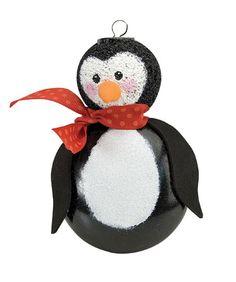 Plastic Penguin Ornament project from DecoArt