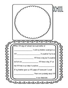 free printable 100th day of schools worksheets | 100TH DAY OF SCHOOL ACTIVITIES UNIT: HOORAY FOR THE 100TH DAY (16 ...