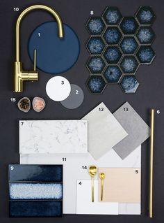 House of Home | Kitchen Colour Schemes Navy Colour Blocking | https://www.houseofhome.com.au/blog/modern-kitchen-colours