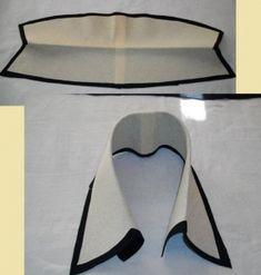 Обработка цельнокройного отложного воротника со стойкой.