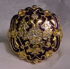 Imperial ring with Romanov crest