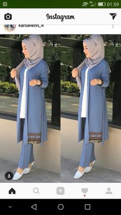Rima Islamic Fashion, Muslim Fashion, Modest Fashion, Fashion Outfits, Casual Hijab Outfit, Hijab Chic, Muslim Dress, Hijab Dress, Mode Abaya