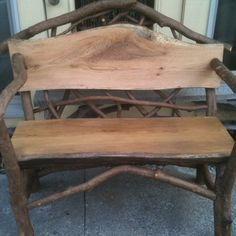 Rustic Bench for Porch