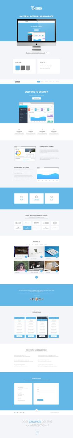 Chomok - Material Landing Page on Behance