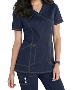 Shop for solid scrub tops in vibrant colors and comfortable styles at Scrubs & Beyond. We carry solid scrub tops made by all of the most trusted brands. Scrubs Outfit, Scrubs Uniform, Cute Scrubs, Iranian Women Fashion, Nurse Costume, Work Uniforms, Professional Wardrobe, Medical Scrubs, Kimonos