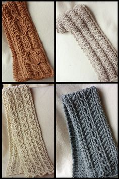 Canyon River Cable Scarves....a different set....crocheted.  $6.99 for the pattern set.