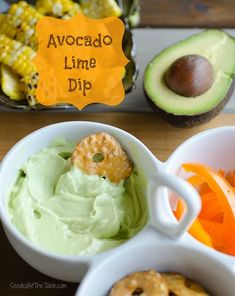Avocado Lime Dip - for the perfect summer party.