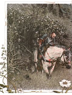 SLEEPING BEAUTY BY ROBERTO INNOCENTI Original Fairy Tales, Classic Fairy Tales, Art And Illustration, Book Illustrations, Fantasy Kunst, Fantasy Art, Grimm, Sleeping Beauty Art, Knight In Shining Armor