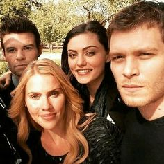 Claire Holt, Daniel Gillies, Phoebe Tonkin, and Joseph Morgan