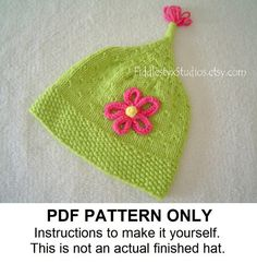 KNITTING PATTERN  Knit Baby Hat PATTERN  by FiddlestyxStudios, $5.50