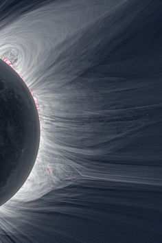 "zerostatereflex:  Detailed View of a Solar Eclipse Corona  ""Only in the fleeting darkness of a total solar eclipse is the light of the solar corona easily visible."""
