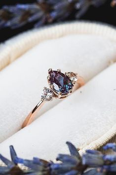 Moonstone Engagement Ring Rose gold Three stone engagement ring Simple Diamond w. Moonstone Engagement Ring Rose gold Three stone engagement ring Simple Diamond wedding women Cluster Bridal Delicate Promise gift for her - Fine Jewelry Ideas - - Engagement Ring Rose Gold, Three Stone Engagement Rings, Three Stone Rings, Different Engagement Rings, Halo Engagement, Morganite Engagement, Gemstone Engagement Rings, Morganite Ring, Rings With Stones
