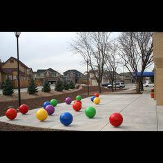 Arts and Venue Denver | Public Art | Denver Public Art Collection | Stimuli  Christopher Weed  Powder-coated steel  Head Start, Lowry Mile High Montessori