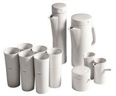 Ironstone tea & coffee service by American ceramicist Lagardo Tackett, 1960s