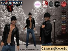 (WEAR ME) Bad Romeo SOLO Jacket (The Grey Goose) secondlife, sl, avatar, men, jacket,coat,outfit,jeans,pants secondlife fashion lifestyle