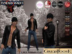 (WEAR ME) Bad Romeo SOLO Jacket (The Grey Goose) secondlife, sl, avatar, men, jacket,coat,outfit,jeans,pants secondlife fashion lifestyle