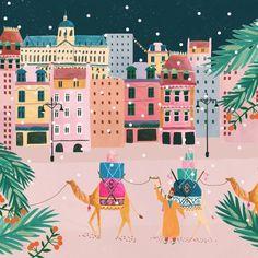Chabi Chic x Rosie Harbottle - Gabriela Art Et Illustration, Graphic Design Illustration, Kids Prints, Art Prints, Chabi Chic, Illustrator, Islamic Art, Art Drawings, Instagram