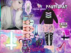 """""""Pastel Goth"""" by valerieroselovesninjas on Polyvore"""