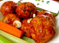 Making these tonight!! :)  Can't wait to try them!  Clean Eating Buffalo Chicken Meatballs