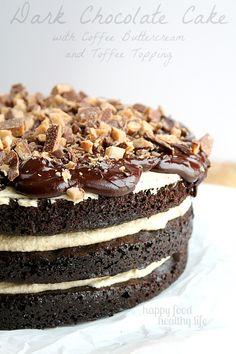 Dark Chocolate Cake with Coffee Buttercream