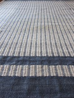 Mixed weave mohair carpet with plum coloured inlay