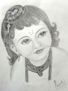 Beautiful Baby Krishna Pencil Drawing Images - A Pencil Sketch Of Little Krishna In 2020 Pencil Drawing Baby Krishna Sketch At Paintingvalley Com Explore Collection Of Pencil Drawing Pictures, Pencil Sketch Drawing, Pencil Art Drawings, Art Drawings Sketches, Pictures To Draw, Drawing Ideas, Pencil Sketches Easy, Drawing Designs, Lord Krishna Sketch