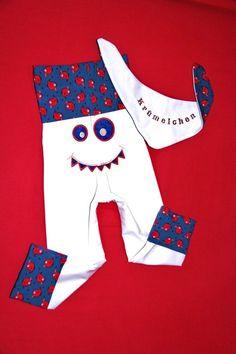 """Nun bekommst du meine beliebte """"Monsterhose"""" auch hier in meinem Shöpchen!    Zuckersüßes Design  in Gr. 86 - 92    Auf dem Popo habe ich das Monst..."""
