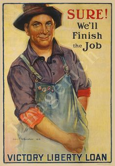 World War 1 Poster - Sure - We'll finish the job - Victory Liberty Loan