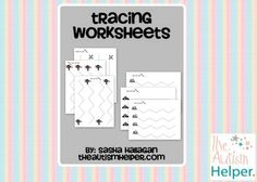 Tracing Worksheets for Early Childhood or Special Education - free ... plus this chick makes great booklets /has wonderful ideas for SPED