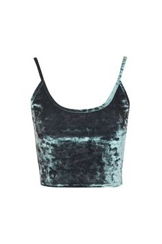 Crushed Velvet Crop Vest