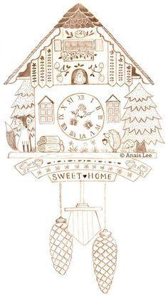 Cuckoo clock on Pinterest | Cuckoo Clocks, Illustrations and ...